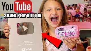 YOUTUBE SILVER PLAY BUTTON AWARD UNBOXING!!!!  + LOL SURPRISE UNDER WRAPS LOL DOLLS OPENING!