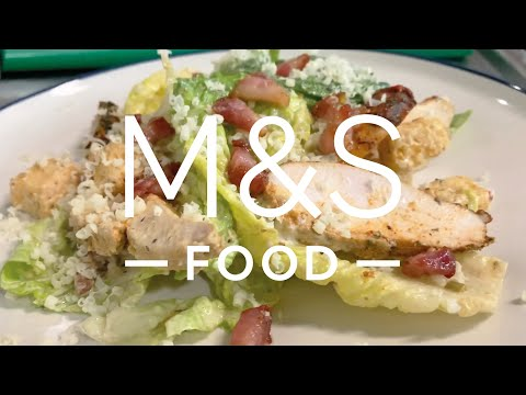 Cook With...M&S Cajun chicken and bacon Caesar salad   M&S Food