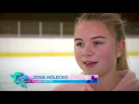 Teenage figure skaters find Olympic inspiration