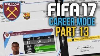 FIFA 17 Career Mode Gameplay Walkthrough Part 13 - BIG JANAURY TRANSFER WINDOW (West Ham)