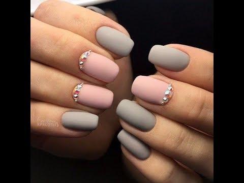 Серо розовые ногти фото
