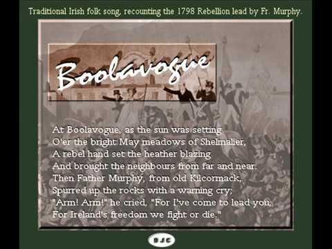 Boolavogue - Irish folk song.