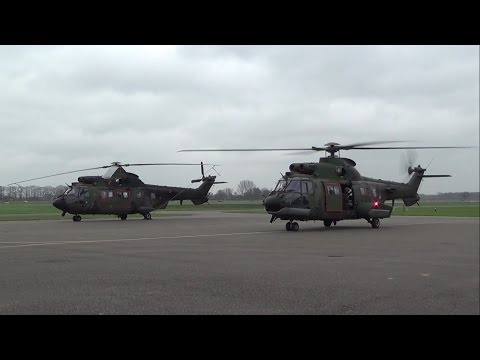 2x RNLAF Eurocopter AS532 Cougar at Teuge Airport