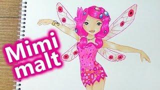 Mia and Me malen deutsch   Mimi malt im Topmodel Malbuch   Abenteuer in Centopia   Kids Club
