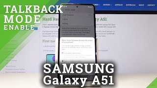 How to Turn On / Off TalkBack in Samsung Galaxy A51 – Activate Voice Assistant