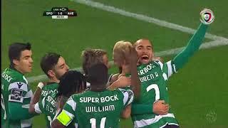 Resumo Sporting 3-0 Aves (Liga 18ªJ)