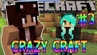 Minecraft: YouTuber Survival #3 - My Girlfriend (Minecraft Crazy Craft 3.0 SMP)
