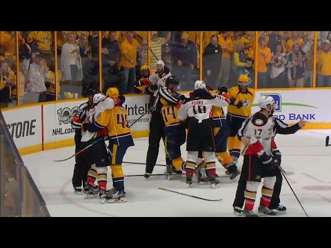 Predators and Ducks get physical at the end of Game 3