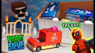 DEADPOOL's TACO TRUCK?! Playmobil MOVIE Playsets EPIC Unboxing!