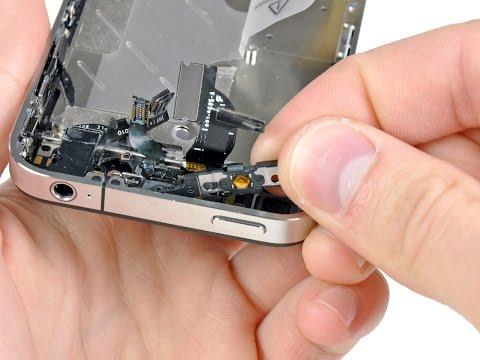 Не работает кнопка включения на IPhone, провалилась, не нажимается