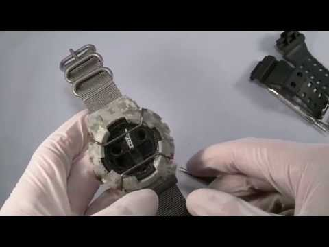 How to change a bezel and strap on Casio GShock GA100 watch #jaysandkays