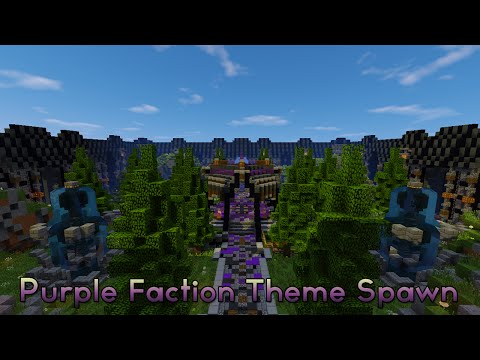 Minecraft - Faction Spawn + Shop | Purple Themed [Schematic + Download]