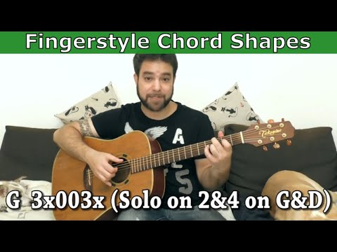 22 Easy Chord Shapes Especially for Fingerstyle - Guitar Lesson Tutorial w/ TAB