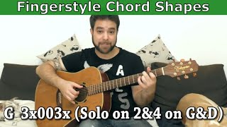 22 Chord Shapes for Fingerstyle - Guitar Lesson Tutorial w/ TAB