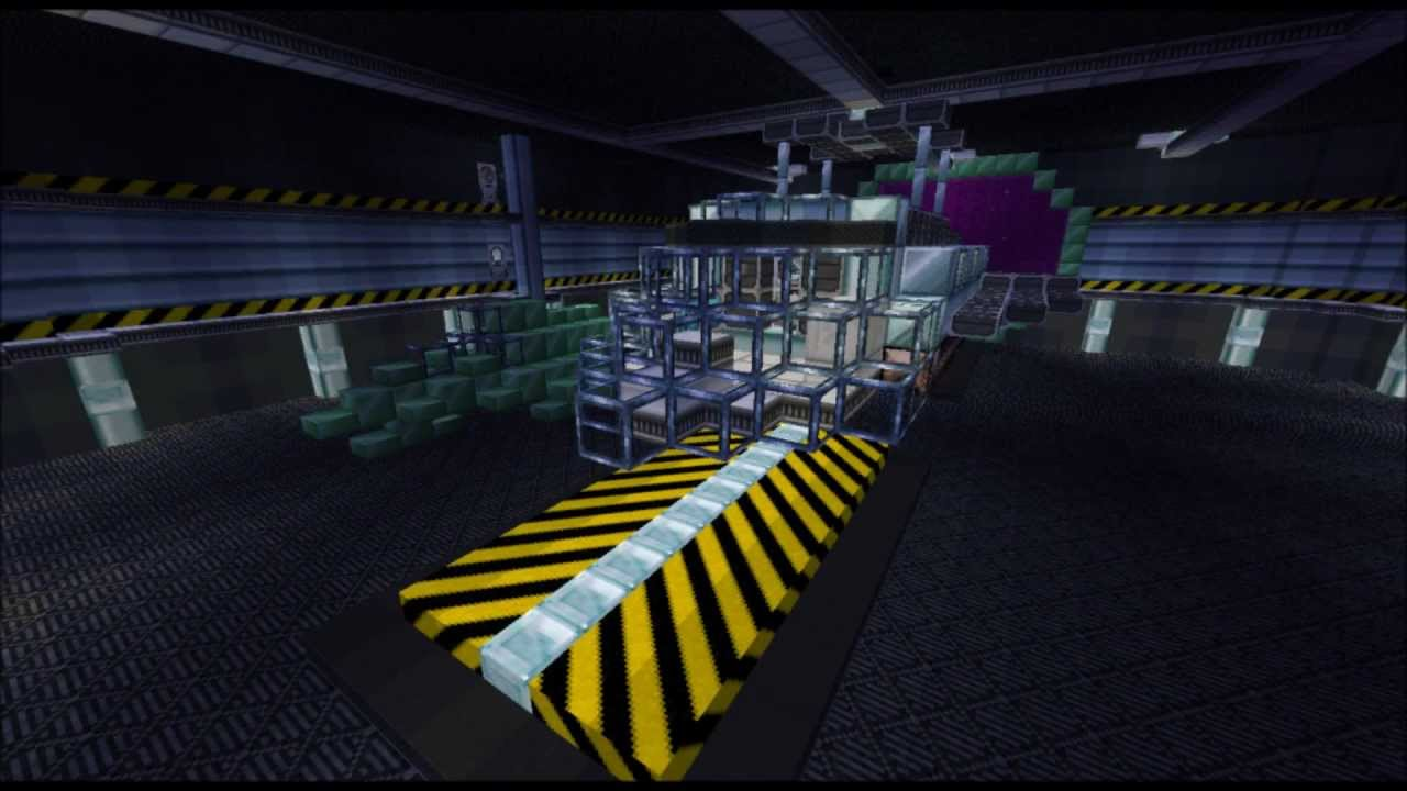Block World Free >> Minecraft-space station PVP map - YouTube