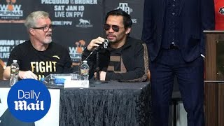 Pacquiao defends his WBA welterweight title against Broner