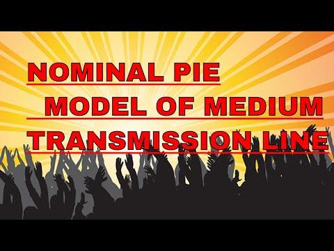 Nominal pie model of medium Transmission line