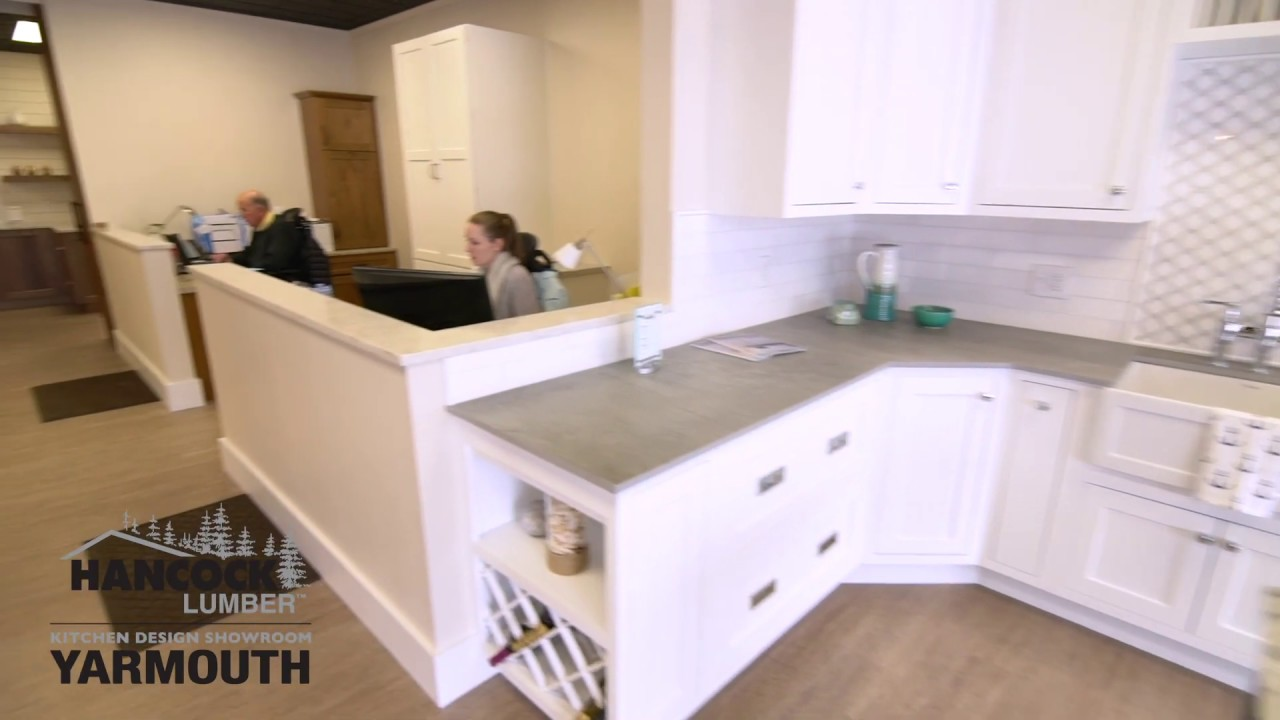 Hancock Lumber Kitchen Design Showroom Tour Yarmouth Youtube