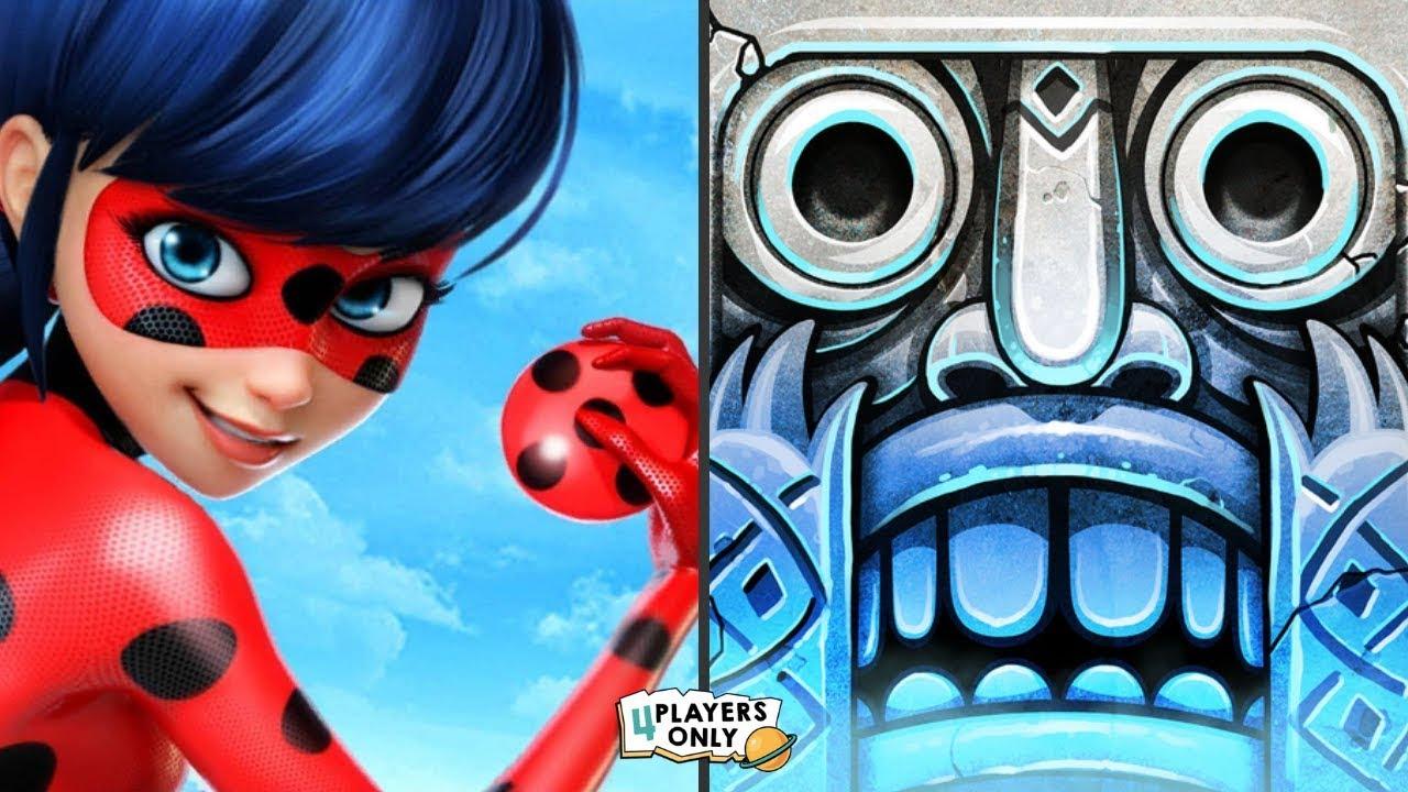 Download Miraculous Ladybug & Cat Noir VS Temple Run 2 [SANTA CLAUS, LOST JUNGLE]