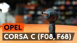Montavimo Skersinės vairo trauklės galas OPEL CORSA C (F08, F68): nemokamas video