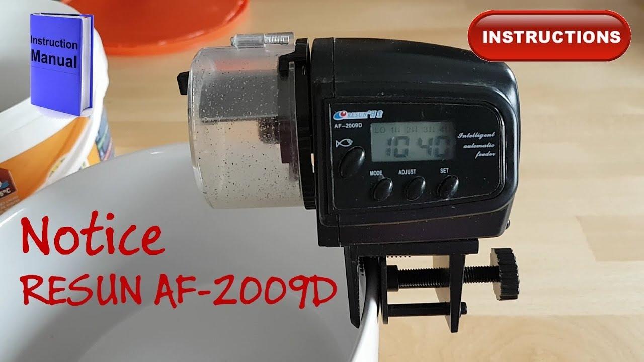 RESUN Nourriture automate AF 2009d-digital avec écran LCD Animalerie