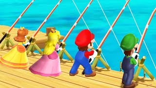 Mario Party 9 Step It Up Minigames - Mario vs Peach vs Luigi vs Yoshi