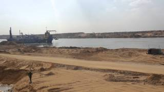 See the first real appearance of the new Suez Canal full 81 kilomtr