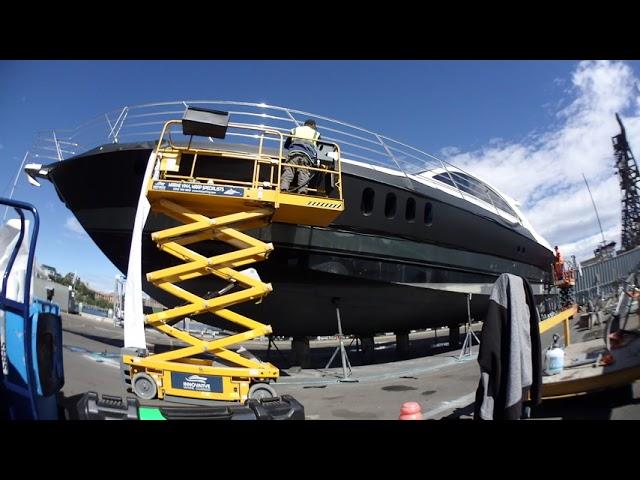 Vinyl Boat Wrap - 77ft Warren (Shadow) in 3M Matte Black