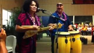 Betty-Anne and Ryan Monga sing HAERE MAI at PCC La