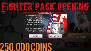 EA SPORTS UFC Mobile - 5 Fighter Pack Opening 250,000 coins Canadian / American Fighter PROMO