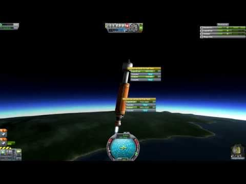 Kerbal Space Program - 5 Part Rocket To Gilly & Minmus (Redd