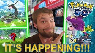 NEW WATER EVENT SHINY POKEMON COMING! CATCHING 2 RARE SHINY POKEMON IN TOKYO!!! (Pokemon GO)