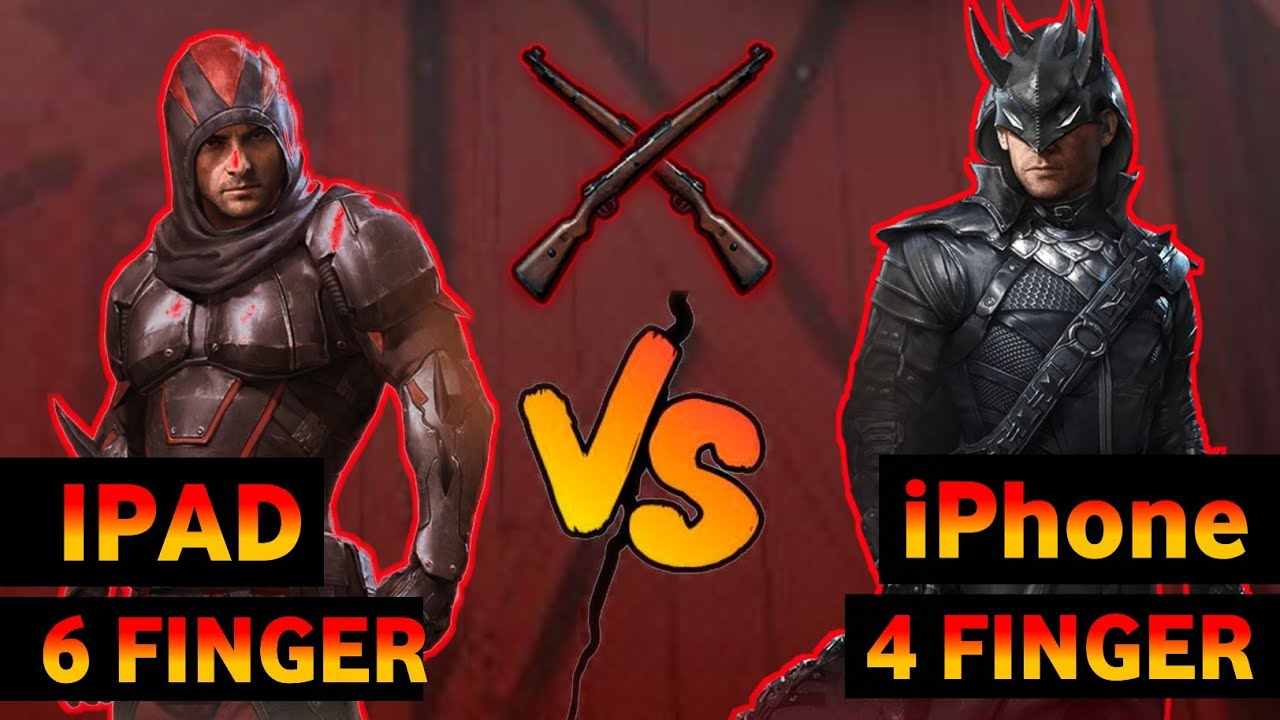 6 Finger Ipad Player Vs 4 Finger Iphone Noob | Sniper Challenge Kar98 Only | Pubg Mobile