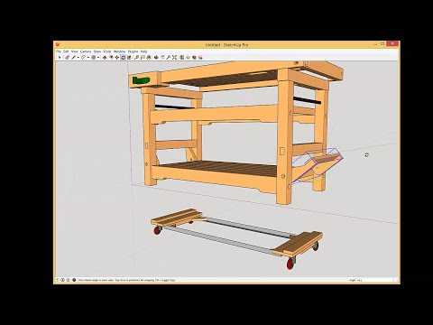 Workbench with Drop Casters - Update on Cam Lever Detail