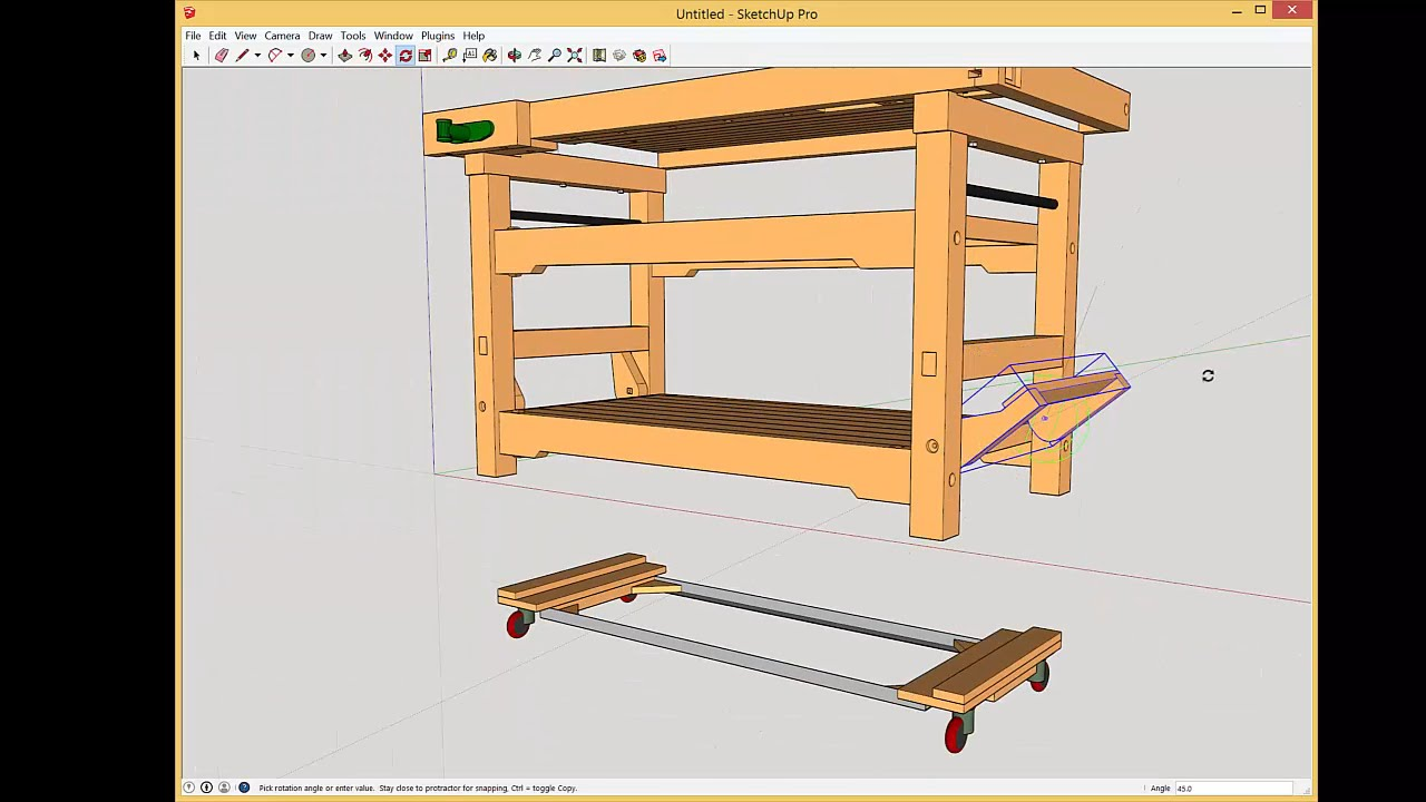 Workbench With Drop Casters Update On Cam Lever Detail