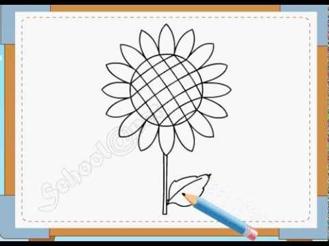 BÉ HỌA SĨ - Thực hành tập vẽ 20: Vẽ hoa hướng dương