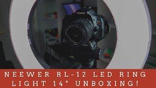 "Neewer RL-12 LED Ring Light 14"" Unboxing!"