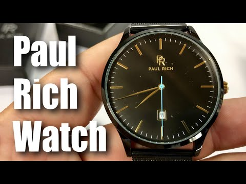 4ecab4a1cc The affordable Hampton Black Gold Mesh Watch by Paul Rich Review ...