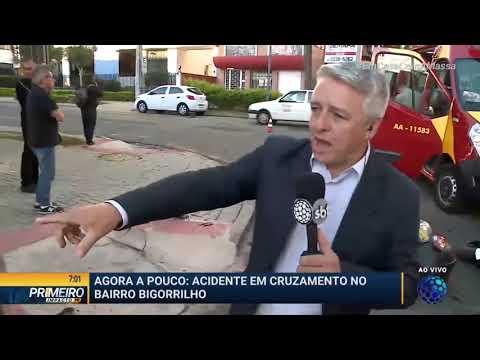 Acidente Em Cruzament No Bairro Bigorrilho - Primeiro Impacto PR (03/04/2020)