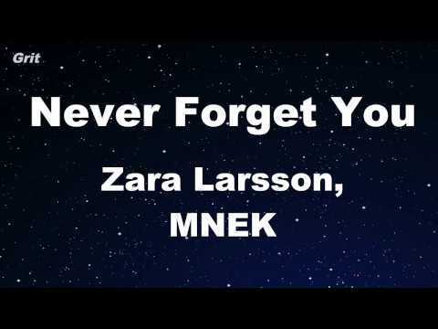 Never Forget You - Zara Larsson, MNEK Karaoke 【With Guide Melody】 Instrumental
