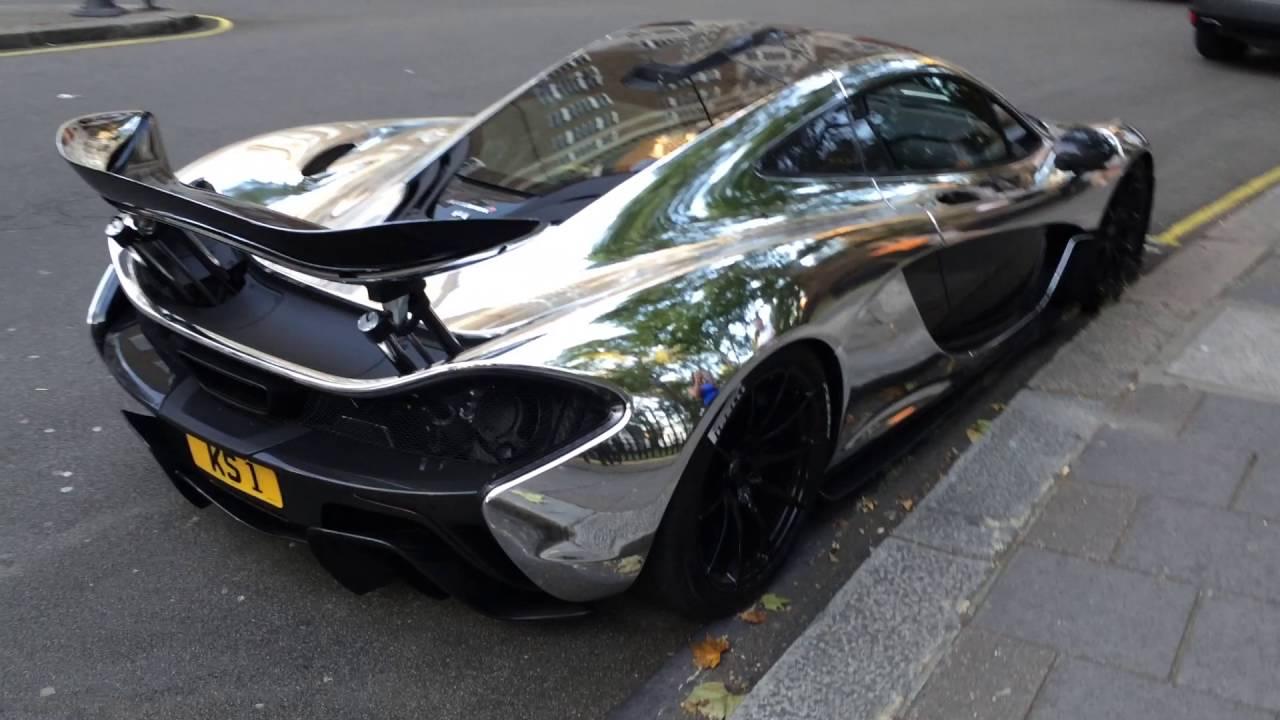 Chrome Mclaren P1 And Aventador In London Part 1 Youtube