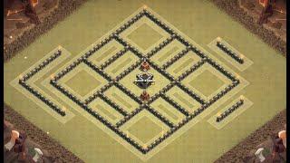Th9 War base | Th9 anti 3 stars | Th9 Base de guerra | Diseño de aldea | Clash of clans