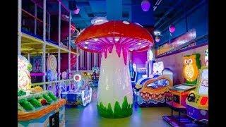 Детский развлекательный центр с горками и батутами kid