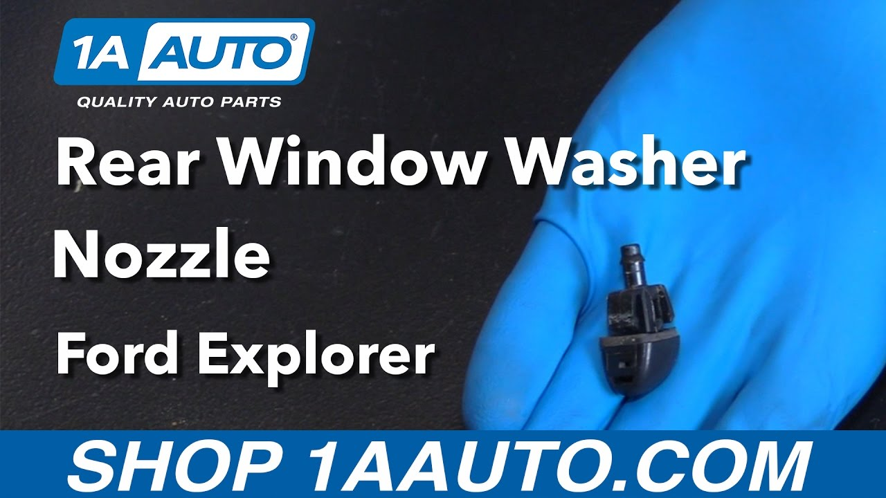 How To Replace Rear Window Washer Nozzle 06 10 Ford Explorer Youtube Jeep Wrangler Defrost