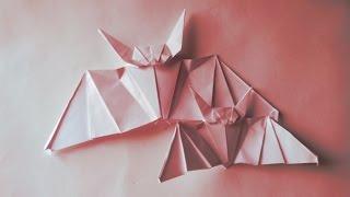 как сделать летучую мышь из бумаги (Origami Bat)