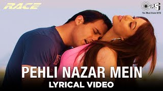 Pehli Nazar Mein [Lyrical Video] Atif Aslam | Saif A Khan, Bipasha B, Akshaye K, Katrina K | Tips