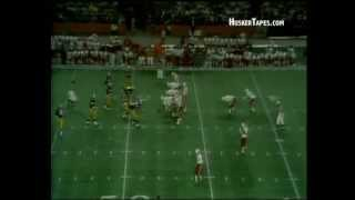 Johnny Rodgers to Frosty Anderson 1973 Orange Bowl Nebraska vs Notre Dame