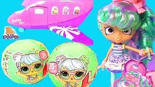 Куклы ЛОЛ Летят в Путешествие! Shopkins Air Jet Сюрпризы ЛОЛ. Видео для Детей   Май Тойс Пинк