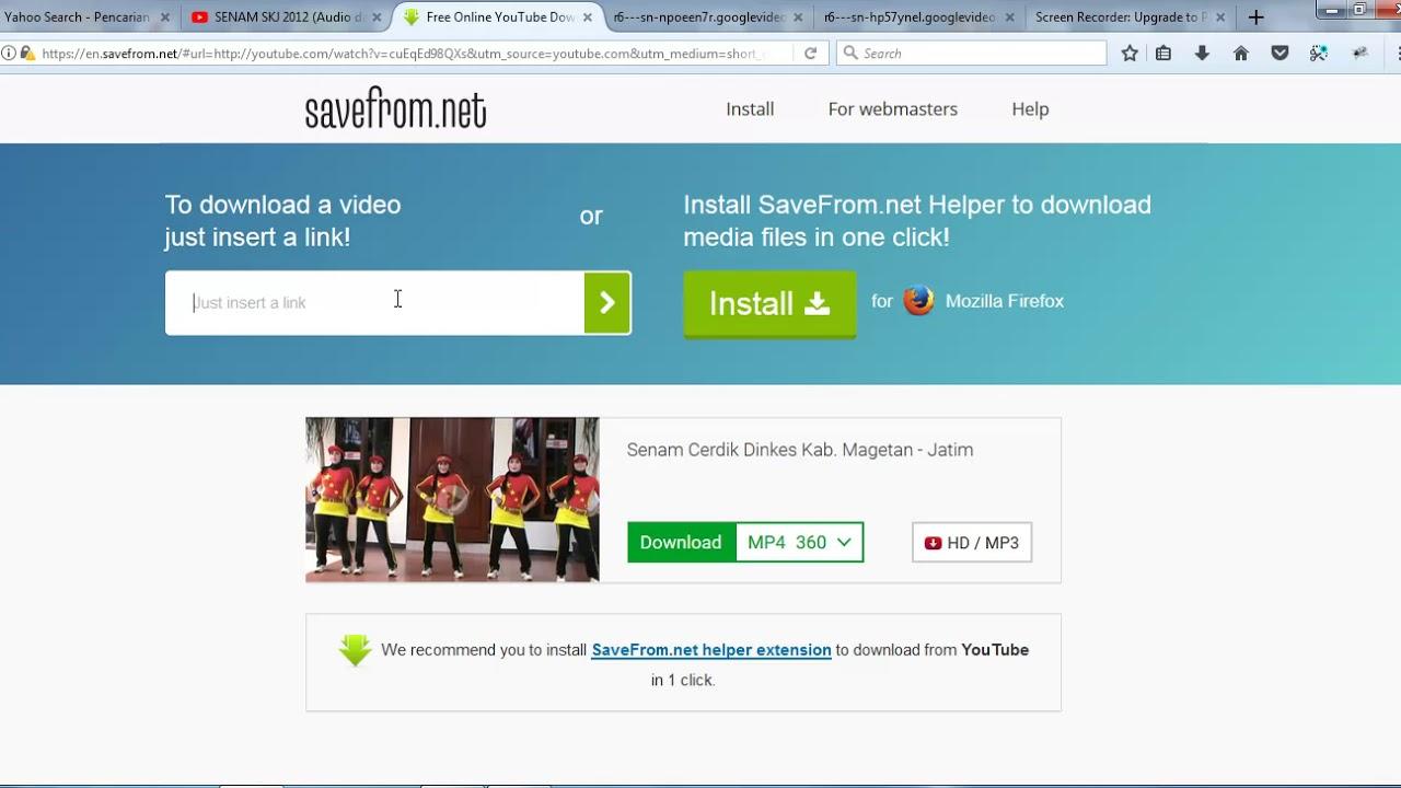 download video dari youtube free tanpa software