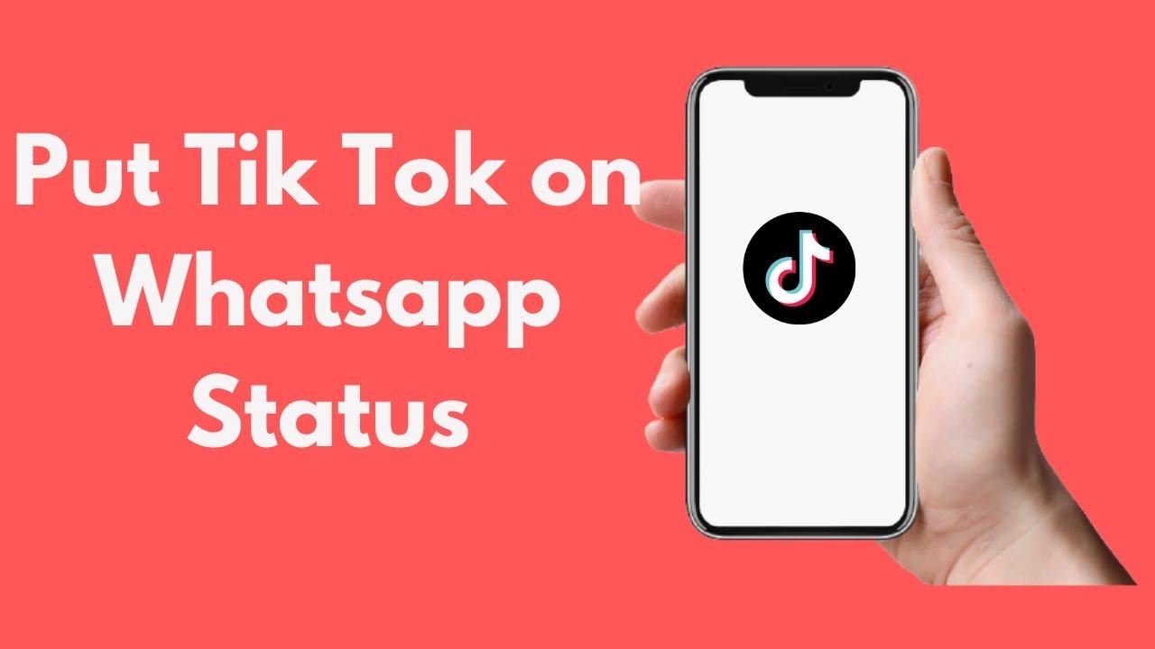How To Put Tik Tok On Whatsapp Status Updated